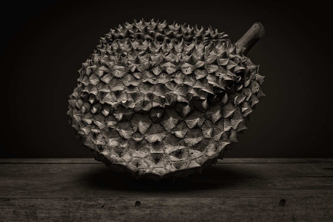 Durian Fruit B&W