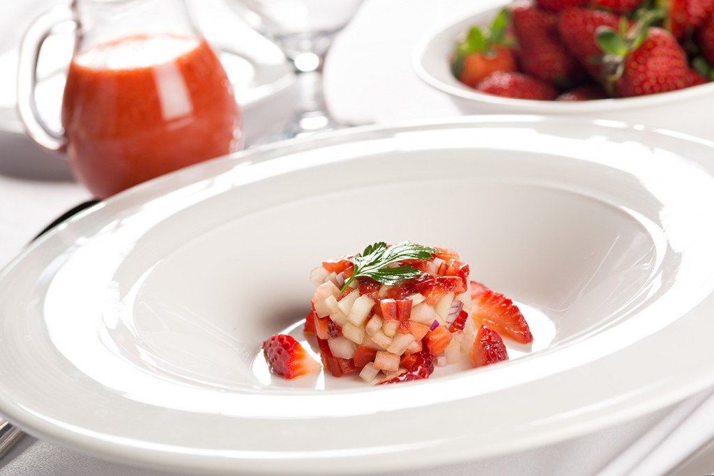 Strawberry Gazpacho, Food photography